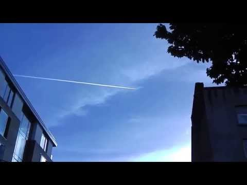 Jet Spraying over Ireland.
