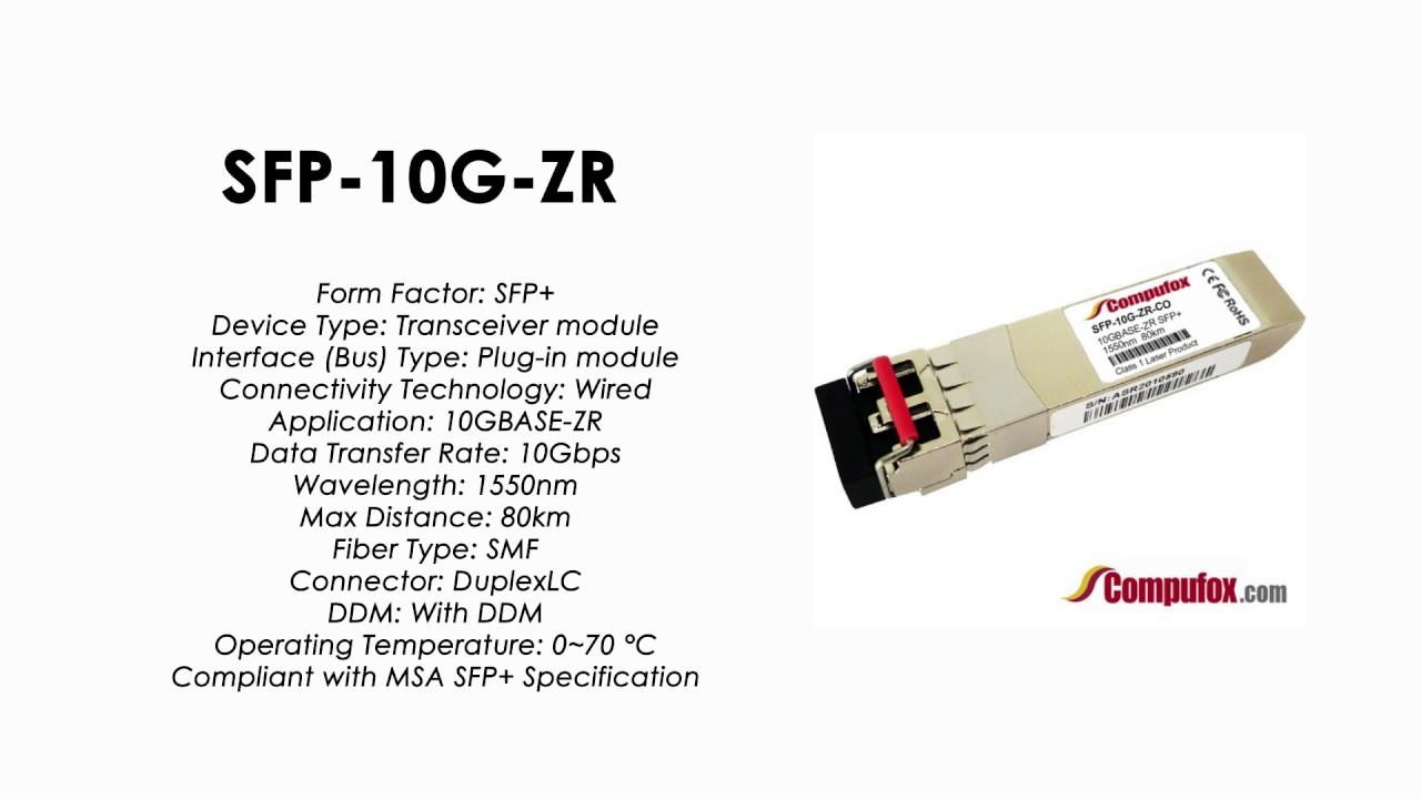 SFP-10G-ZR-CO (Cisco 100% Compatible Optical Transceiver)