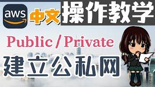 AWS 中文入门开发教学 - 建立公私网 - 公私分明才能网络安全 - vpc sub network p.11 - 操作教学【1级会员】