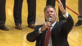 Jim Cornelison sings National Anthem at Indiana University men