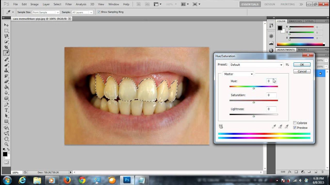 Belajar Photoshop Cara Membuat Gigi Menjadi Putih Youtube