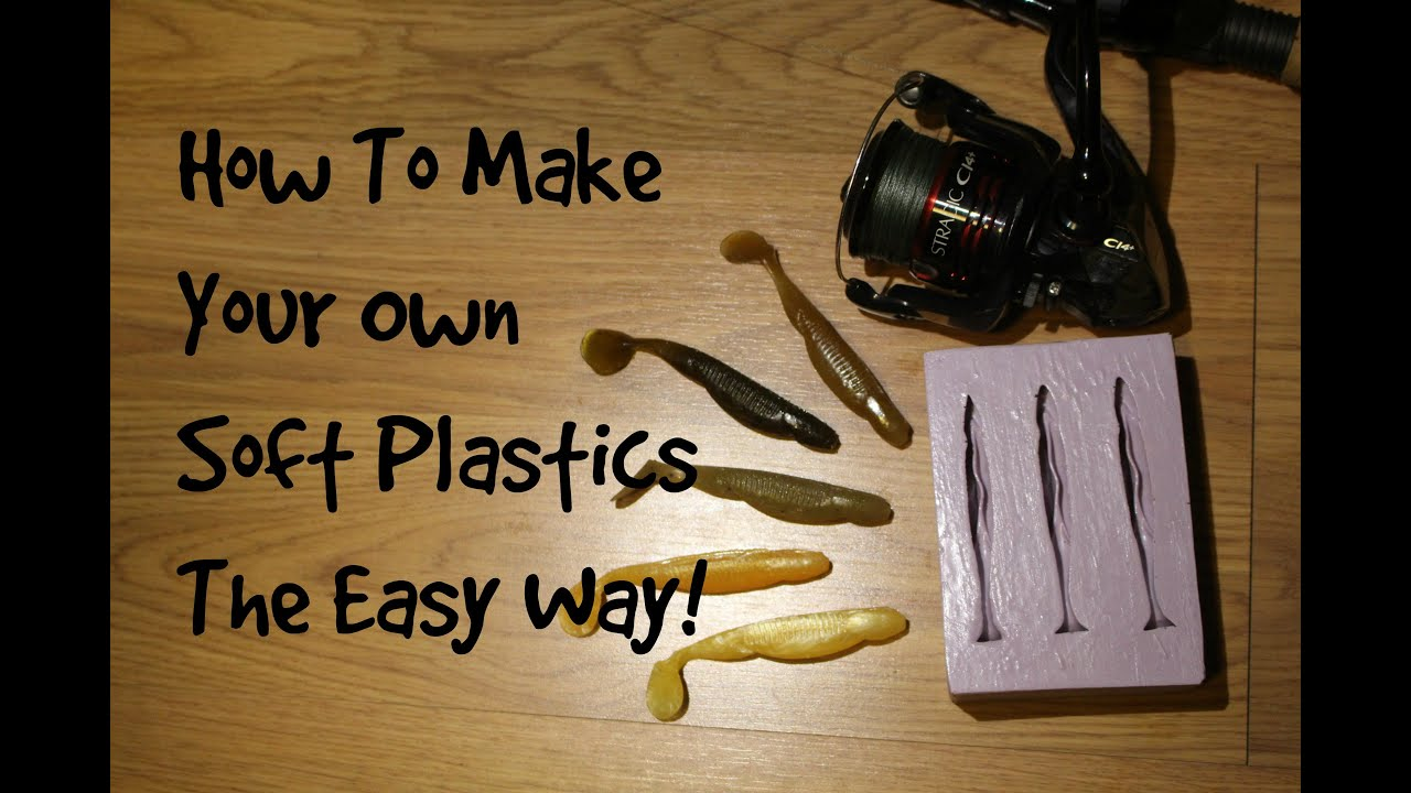 how to make soft plastics the easy way| fishing my own baits, Soft Baits
