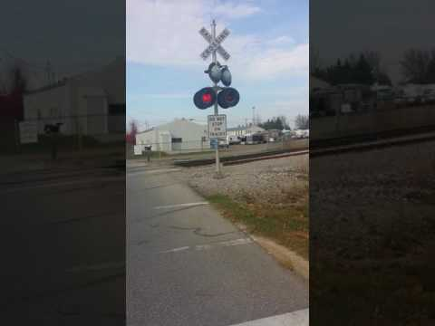 Dumb people not stopping 4 train Crossing lights