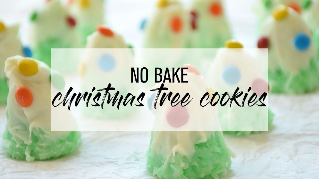 No Bake Christmas Tree Cookies - YouTube