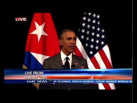 Barack Obama addresses the Cuban nation
