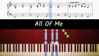 Download lagu How to play piano part of All Of Me by John Legend