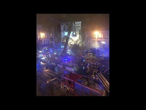 Belgium building brought down by blast