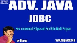 Gambar cover JDBC Session-69 || How to download Eclipse and Run Hello World Program