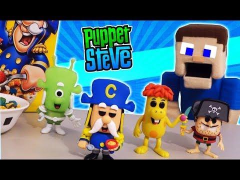 FUNKO CEREAL Cap'n Crunch Pop Breakfast Exclusive Figures Unboxing Crunchberries Beast Puppet Steve