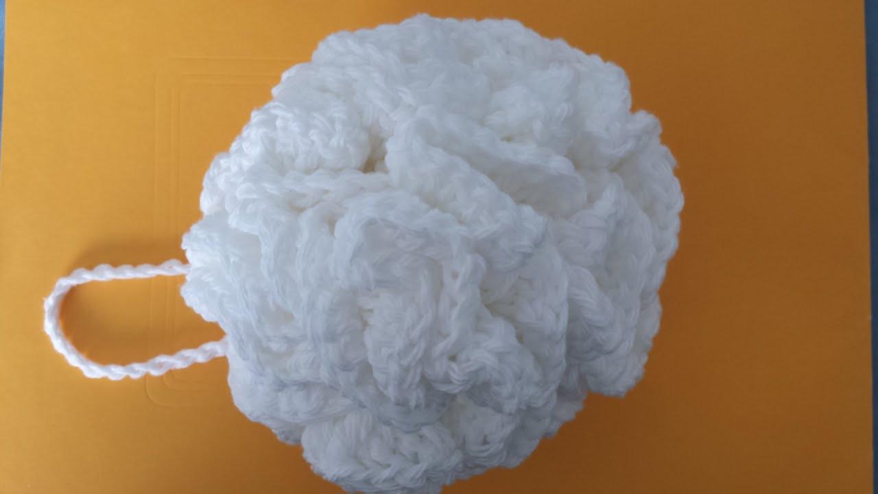 ... Face/Bath Pouf Sponge Tutorial - The Art Of Crochet Project - YouTube