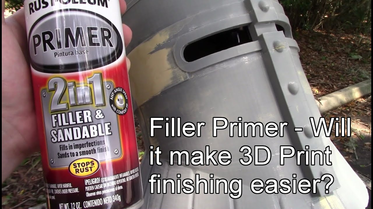 Filler Primer Will It Make 3d Print Finishing Easier