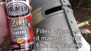 Filler Primer - Will it make 3D Print finishing easier?