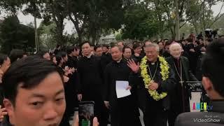 Đức cha Anphongso Nguyễn Hữu Long đã về giáo phận Vinh, chiều 20.01.2019