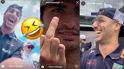 DANIEL RICCIARDO HACKS MERCEDES F1 INSTAGRAM LIVE! 😂