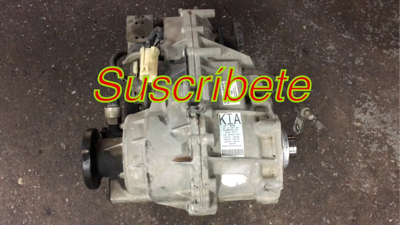 Como Cambiar El Transfer Case 2005 Kia Sorento Youtube
