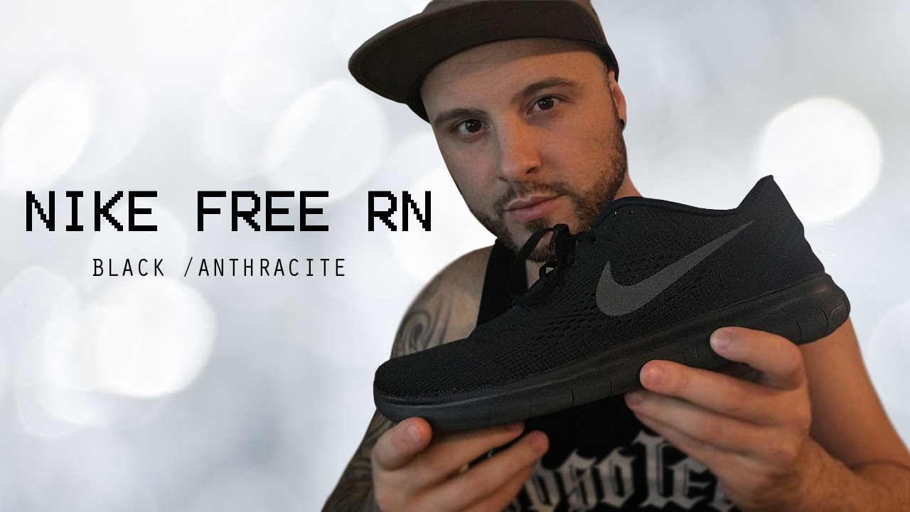 33620ae557f0 Nike Free RN 2016 Sneakers Black Anthracite Unboxing MUST SEE - YouTube