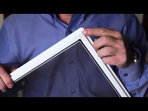 How to Remove a Window Screen For Cleaning - YouTube