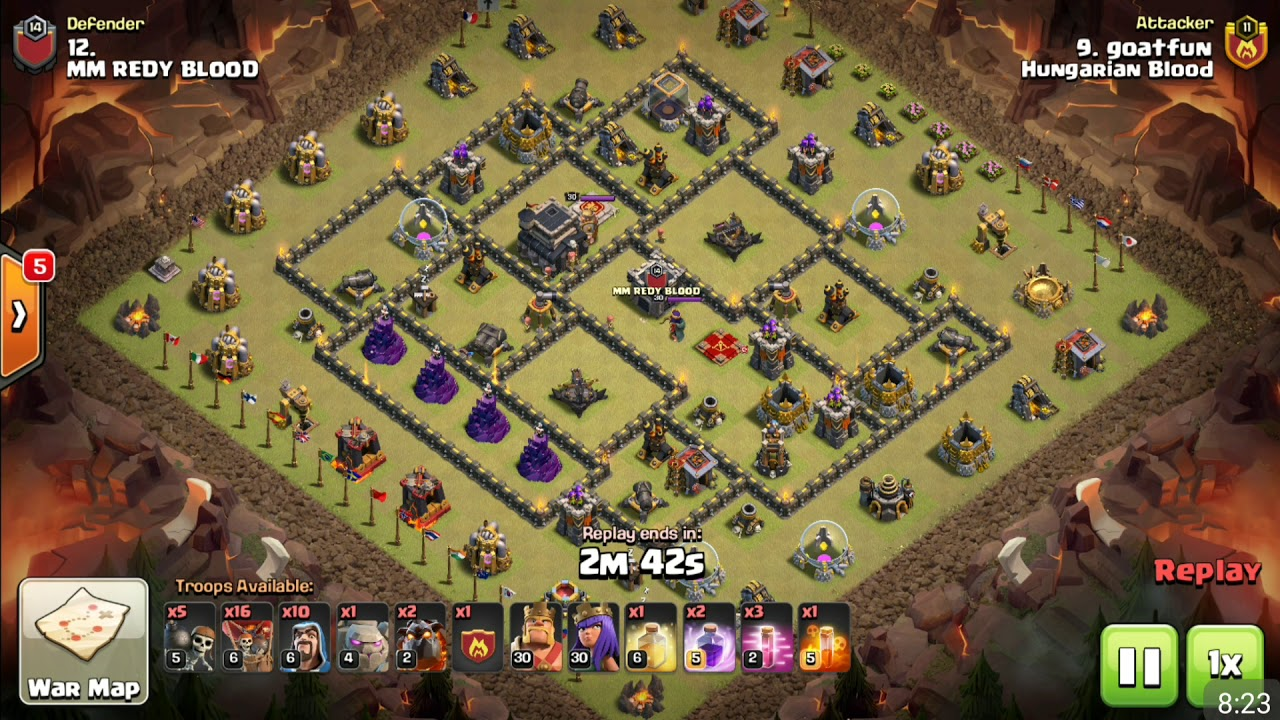 hungarian blood vs mm redy blood awl war th 9 attacks youtube