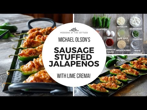 Michael Olson's SAUSAGE-STUFFED JALAPEÑOS