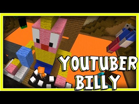 Minecraft - Build Battle Buddies - YOUTUBER BILLY! W/AshDubh