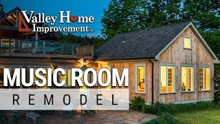 Garage to Music Room Remodel By Valley Home Improvement