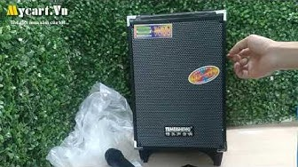 Loa kéo Karaoke Bluetooth di động TEMEISHENG A8-2T - Tặng 1 Micro