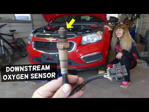 CHEVROLET CRUZE DOWNSTREAM OXYGEN SENSOR REPLACEMENT LOCATION  OXYGEN SENSOR 2 REPLACEMENT