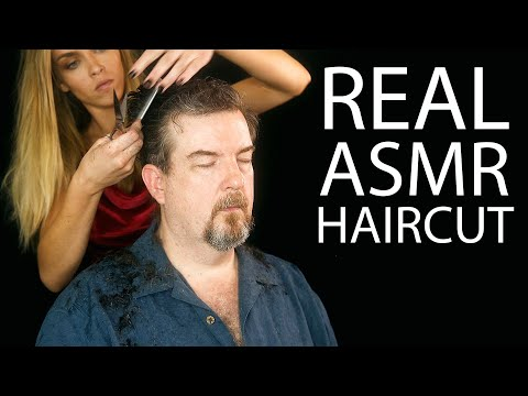 Real ASMR Haircut by Payton ♥ Professional Hair Stylist, Scalp Massage, Male Hai