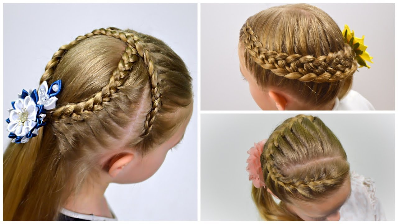 3 Cute braided hairstyles for school/party - tutorial. Hairstyles for girls by LittleGirlHair