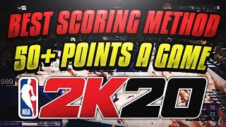 BEST SCORING METHOD IN 2K20! SCORE 50+ POINTS ON HALL OF FAME DIFFICULTY!
