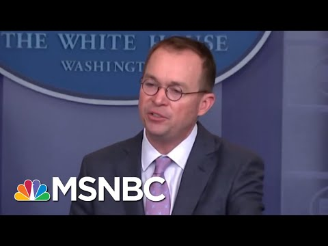 Mick Mulvaney Picks The Short Straw, Gets Chief Of Staff Job | All In | MSNBC