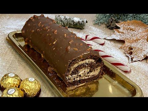 bÛche-chocolat-pralinÉ-trÈs-facile-À-prÉparer-(sans-moule)