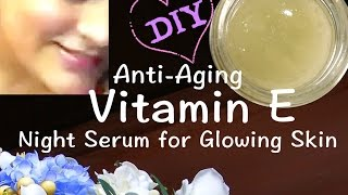 "Anti Aging विटामिन E ग्लो सीरम ""GLOW SERUM"" Glowing, Wrinkle Free Skin, Remove Dark Spots, Blemishes"