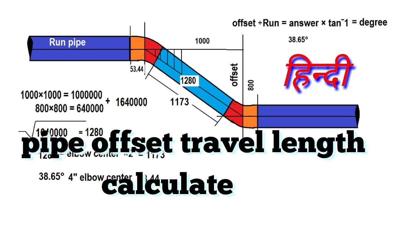 pipe offset formula manual how to find travel on pipe hindi youtube rh youtube com Manual Payroll Calculation piping and pipeline calculations manual