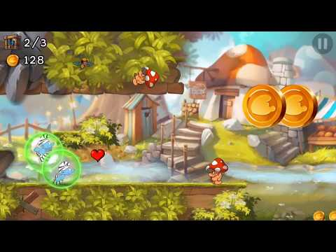 Smurfs Epic Run  Android iOS Walkthrough - Gameplay Part 1 - Stage 1-8