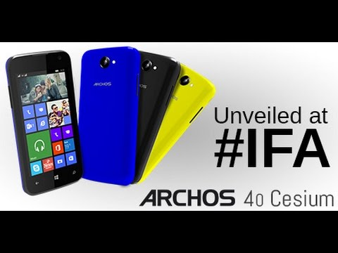 Archos 40 Cesium, first windows phone from them, will launch in September at £80 or $130