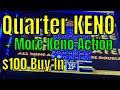 $100 Buy In Quarter KENO Casino Arizona - Cleopatra Keno, Caveman Keno, 4 Card Keno + Nickel Session