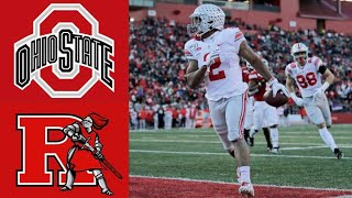 #2 Ohio State vs Rutgers Highlights | NCAAF Week 12 | College Football Highlights
