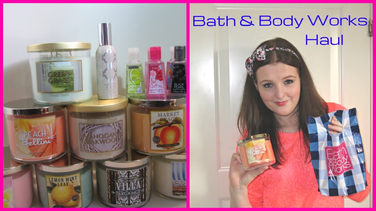 bath & body works haul (+yankee candle and bed, bath & beyond
