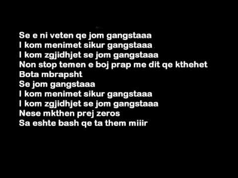 Nora Ft. Bim Bimma - Gangsta ( Lyrics Video ) HQ Me Tekst