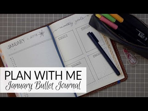 Plan With Me | Bullet Journal | January 2018