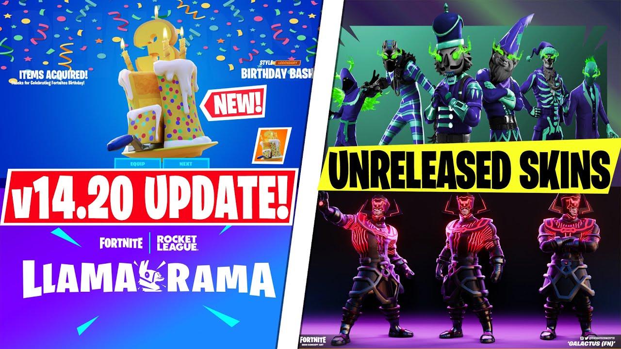 NEW MASSIVE v14.20 Update This Week! *FREE REWARDS* Fortnite Birthday, Rocket League Collab & SKINS!