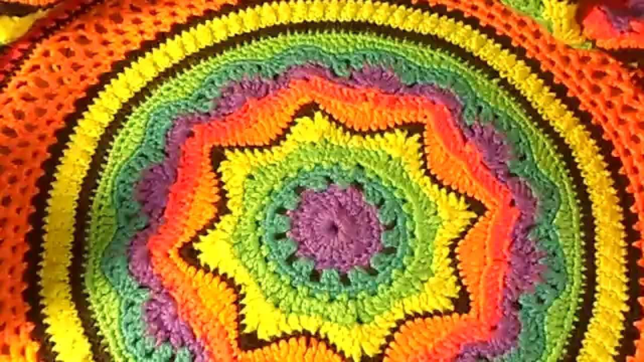 My Rainbow Afghan Pattern test video - YouTube
