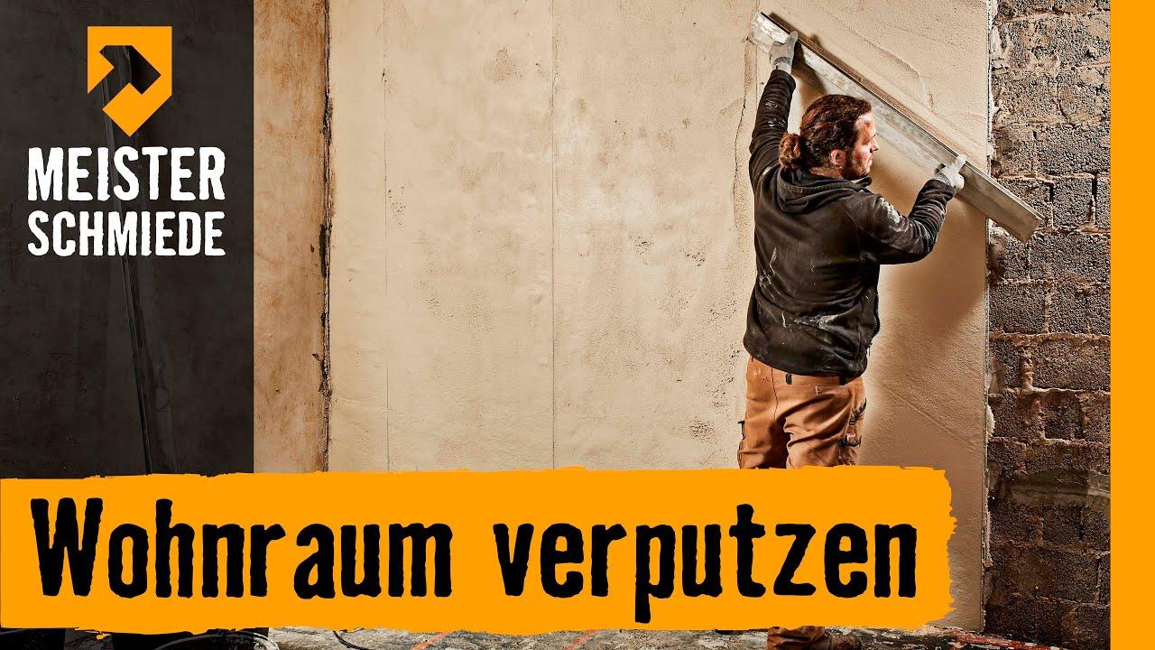 wohnraum verputzen | hornbach meisterschmiede - youtube