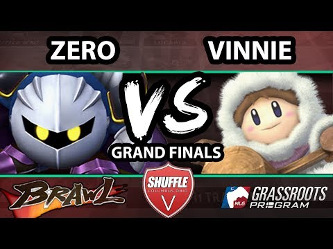 Shuffle V - Vinnie (Ice Climbers) Vs. ZeRo (Meta Knight) - Grand Finals - SSBB