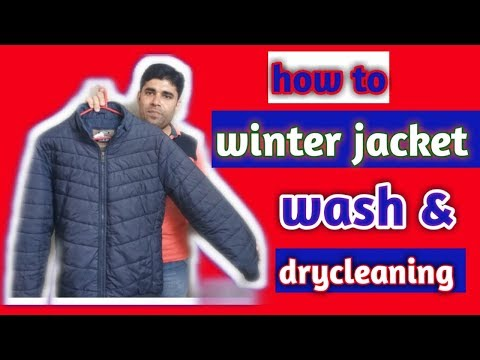 How To Wash & Drycleaning Winter Jacket (hindi)