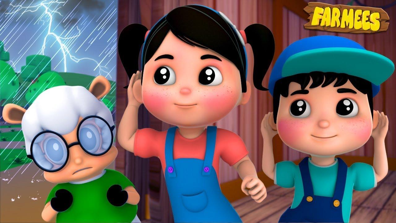 I Hear Thunder | Kindergarten Nursery Rhymes For Children by Farmees kids cartoon sing-along