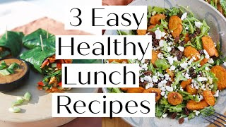 HOW TO MAKE 3 HEALTHY LUNCH RECIPES // VEGAN & PALEO Options | Sanne Vloet