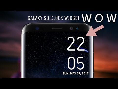 Get Galaxy s8 Clock widget in any android device (No root)