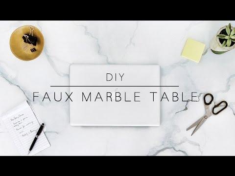 DIY MARBLE TABLE & DESK ORGANIZATION | THE SORRY GIRLS
